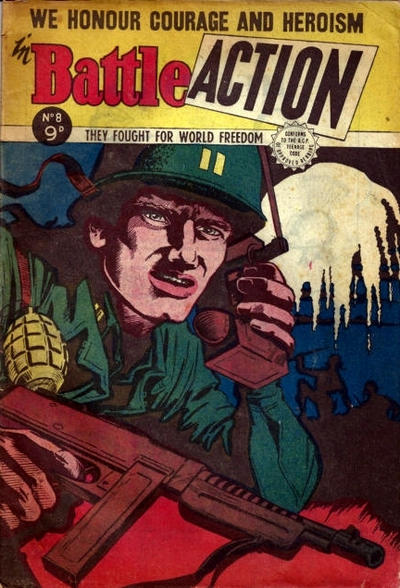 Cover for Battle Action (Horwitz, 1954 ? series) #8