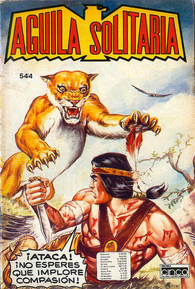 Cover for Aguila Solitaria (Editora Cinco, 1976 ? series) #544