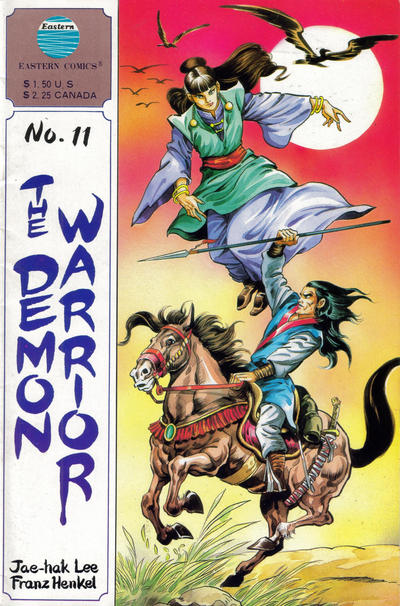 Cover for The Demon Warrior (Eastern Comics, 1987 series) #11