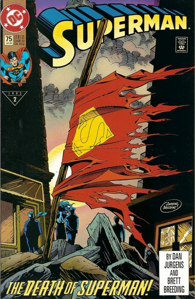 Cover for Superman (DC, 1987 series) #75 [Direct]