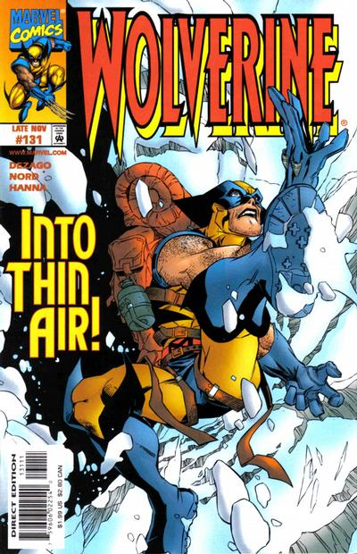 Cover for Wolverine (Marvel, 1988 series) #131 [Direct Edition - Error]