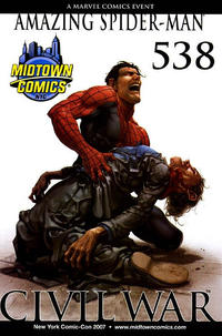 Cover Thumbnail for The Amazing Spider-Man (Marvel, 1999 series) #538 [Midtown Comics Variant Cover]