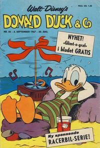 Cover Thumbnail for Donald Duck & Co (Hjemmet / Egmont, 1948 series) #36/1967