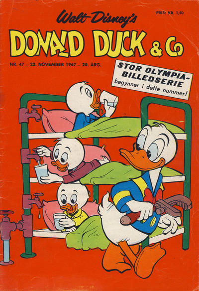 Cover for Donald Duck & Co (Hjemmet / Egmont, 1948 series) #47/1967