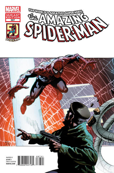 Cover for The Amazing Spider-Man (Marvel, 1999 series) #687 [Dell'Otto Variant]