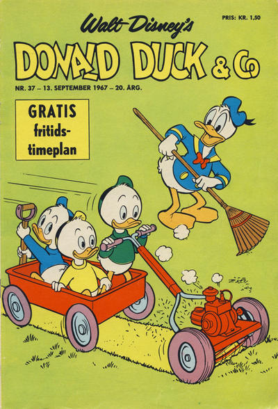 Cover for Donald Duck & Co (Hjemmet / Egmont, 1948 series) #37/1967