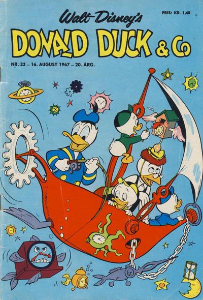 Cover for Donald Duck & Co (Hjemmet / Egmont, 1948 series) #33/1967