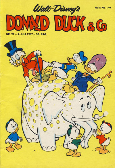 Cover for Donald Duck & Co (Hjemmet / Egmont, 1948 series) #27/1967