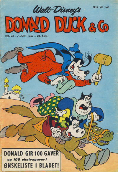 Cover for Donald Duck & Co (Hjemmet / Egmont, 1948 series) #23/1967