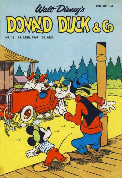 Cover for Donald Duck & Co (Hjemmet / Egmont, 1948 series) #16/1967