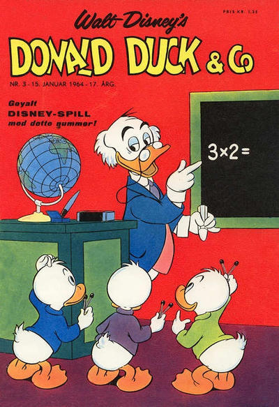 Cover for Donald Duck & Co (Hjemmet / Egmont, 1948 series) #3/1964