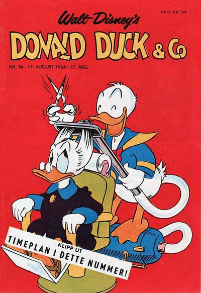 Cover for Donald Duck & Co (Hjemmet / Egmont, 1948 series) #34/1964
