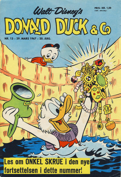 Cover for Donald Duck & Co (Hjemmet / Egmont, 1948 series) #13/1967