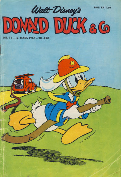 Cover for Donald Duck & Co (Hjemmet / Egmont, 1948 series) #11/1967