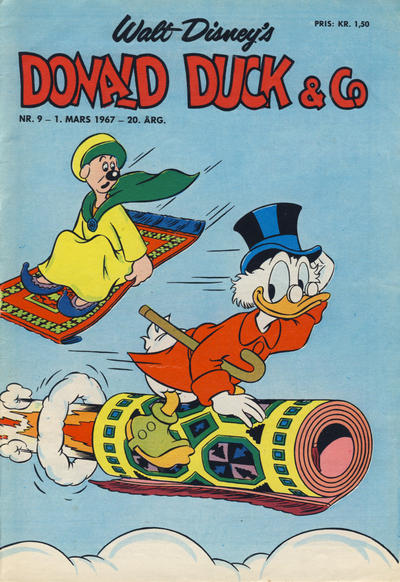 Cover for Donald Duck & Co (Hjemmet / Egmont, 1948 series) #9/1967
