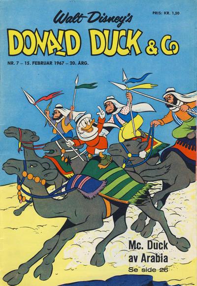 Cover for Donald Duck & Co (Hjemmet / Egmont, 1948 series) #7/1967