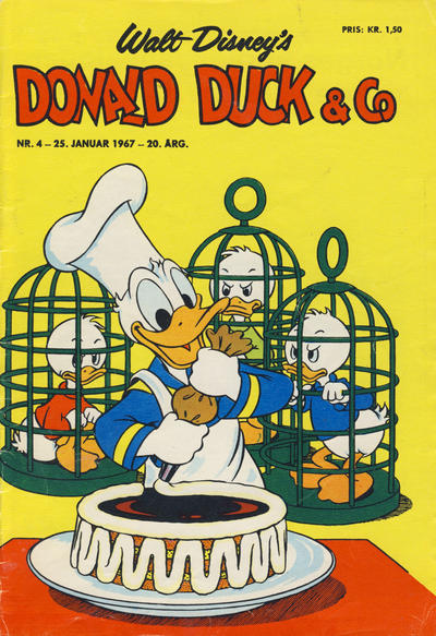 Cover for Donald Duck & Co (Hjemmet / Egmont, 1948 series) #4/1967