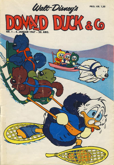Cover for Donald Duck & Co (Hjemmet / Egmont, 1948 series) #1/1967