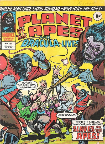 Cover for Planet of the Apes (Marvel UK, 1974 series) #121