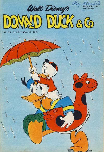 Cover for Donald Duck & Co (Hjemmet / Egmont, 1948 series) #28/1966