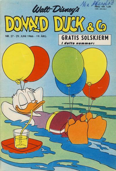 Cover for Donald Duck & Co (Hjemmet / Egmont, 1948 series) #27/1966