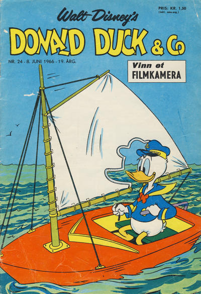 Cover for Donald Duck & Co (Hjemmet / Egmont, 1948 series) #24/1966