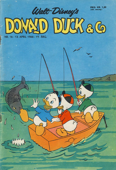 Cover for Donald Duck & Co (Hjemmet / Egmont, 1948 series) #16/1966