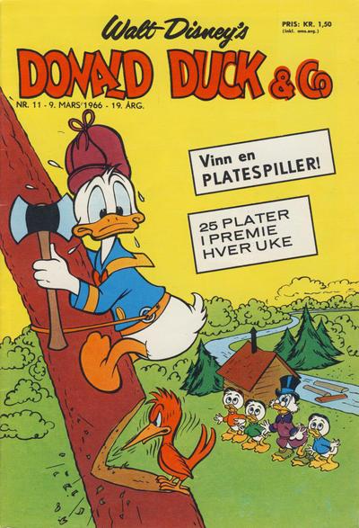 Cover for Donald Duck & Co (Hjemmet / Egmont, 1948 series) #11/1966