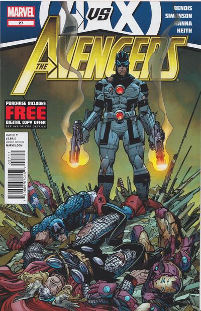 Cover for Avengers (Marvel, 2010 series) #27