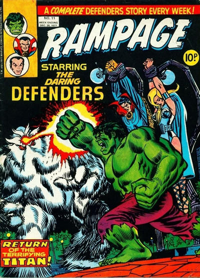 Cover for Rampage (Marvel UK, 1977 series) #11
