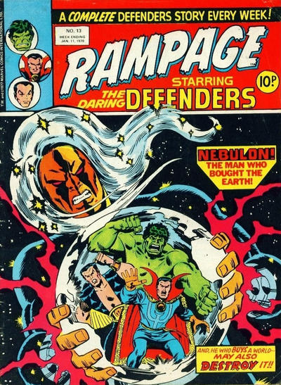 Cover for Rampage (Marvel UK, 1977 series) #13