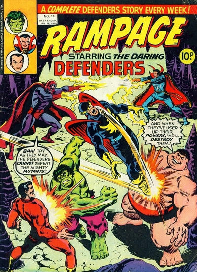 Cover for Rampage (Marvel UK, 1977 series) #14