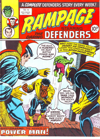 Cover for Rampage (Marvel UK, 1977 series) #16