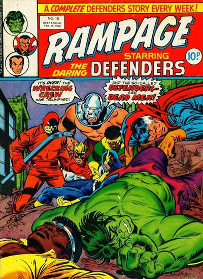 Cover for Rampage (Marvel UK, 1977 series) #18