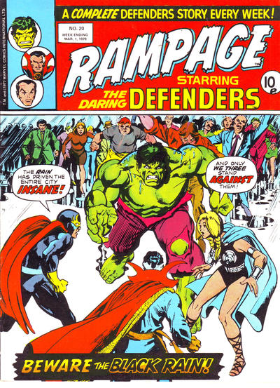 Cover for Rampage (Marvel UK, 1977 series) #20