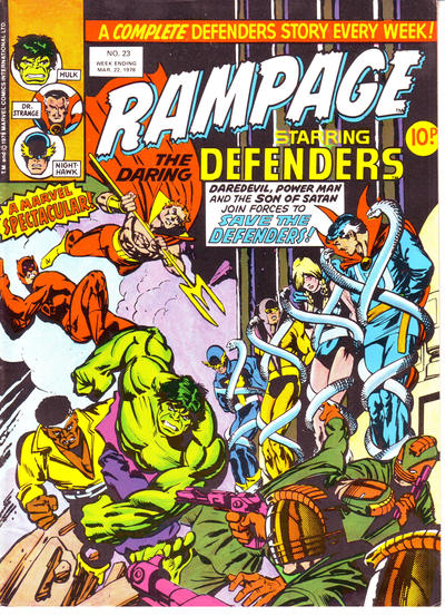 Cover for Rampage (Marvel UK, 1977 series) #23