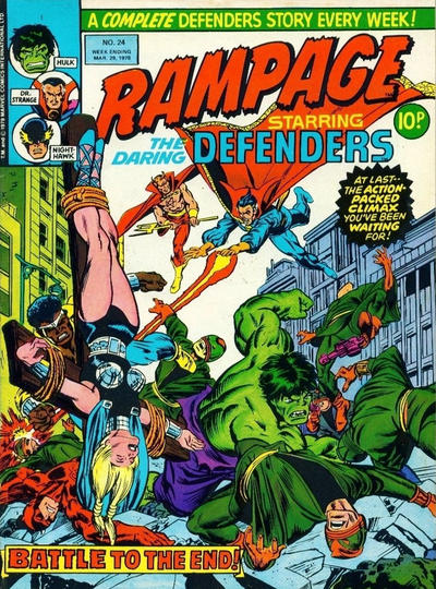 Cover for Rampage (Marvel UK, 1977 series) #24