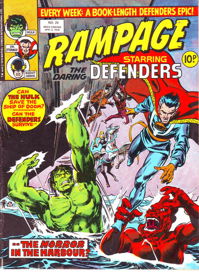 Cover for Rampage (Marvel UK, 1977 series) #25