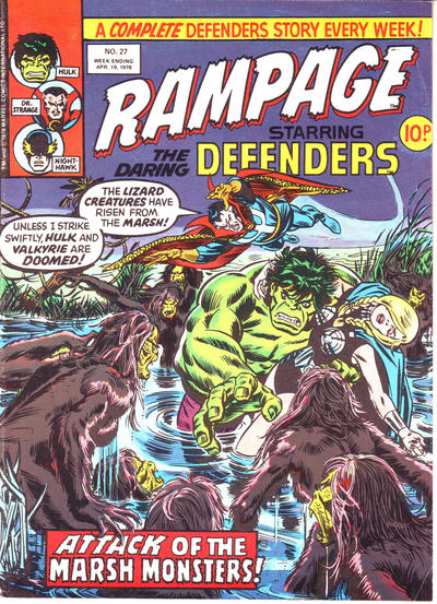 Cover for Rampage (Marvel UK, 1977 series) #27
