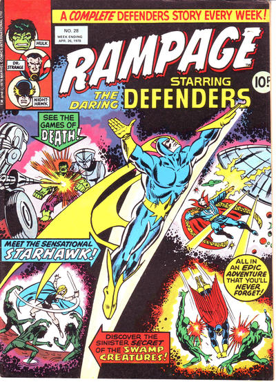Cover for Rampage (Marvel UK, 1977 series) #28