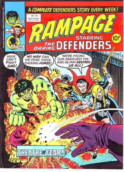 Cover for Rampage (Marvel UK, 1977 series) #30