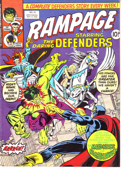 Cover for Rampage (Marvel UK, 1977 series) #31