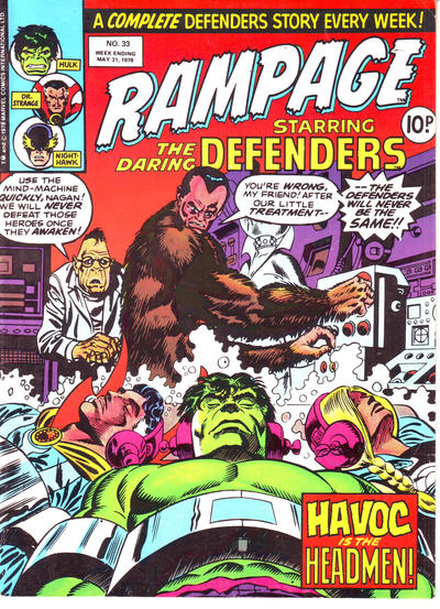 Cover for Rampage (Marvel UK, 1977 series) #33