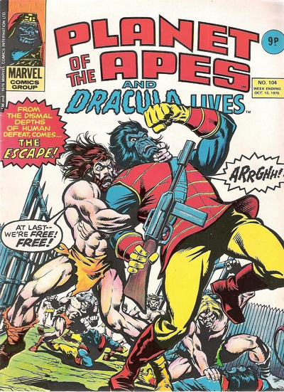 Cover for Planet of the Apes (Marvel UK, 1974 series) #104