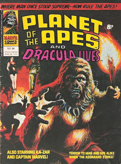 Cover for Planet of the Apes (Marvel UK, 1974 series) #89