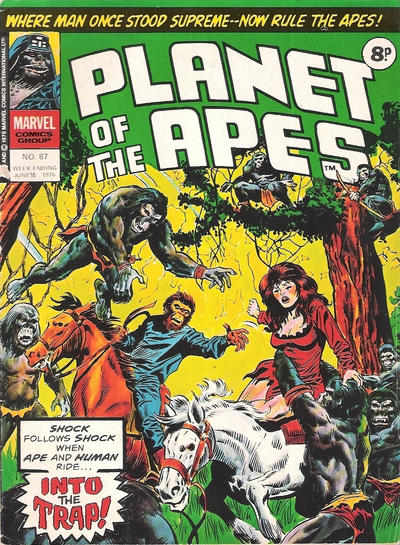 Cover for Planet of the Apes (Marvel UK, 1974 series) #87
