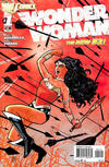 Cover for Wonder Woman (DC, 2011 series) #1 [2nd Printing - Red Background]