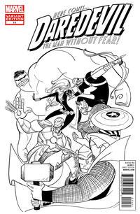 Cover Thumbnail for Daredevil (Marvel, 2011 series) #11 [Avengers Art Appreciation variant cover]