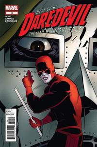 Cover for Daredevil (Marvel, 2011 series) #14 [Spider-Man In Motion variant cover]