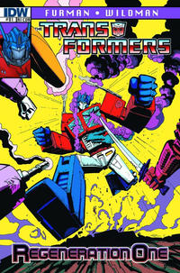 Cover Thumbnail for Transformers: Regeneration One (IDW, 2012 series) #81 [Cover RI-A - Incentive Geoff Senior Variant]